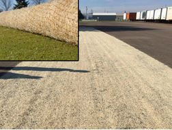 Curlex Erosion Control Blankets Come in Rolls of Green or Tan