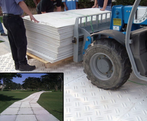 Signature mats are easily moved on the jobsite