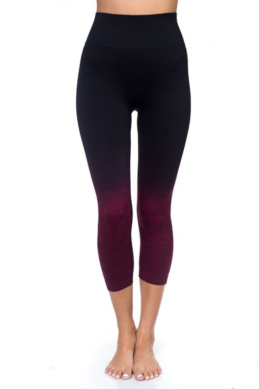 Body Flatter Color Blend Workout Capris - Stretch Lane