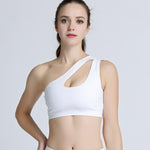 One Shoulder Shockproof Sports Bra - Stretch Lane