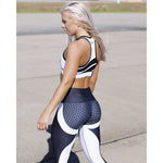 Mesh Pattern Print Yoga Leggings - Stretch Lane