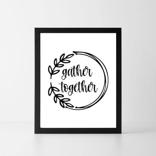 Gather Together | Printable Instant Digital Download Sign | Fall