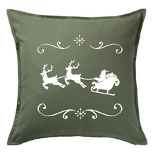 Load image into Gallery viewer, Santa and Reindeers Pillow | Pillow Cover | Cushion Cover