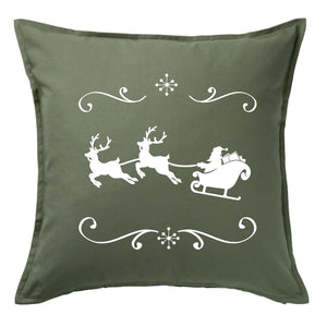 Santa and Reindeers Pillow | Pillow Cover | Cushion Cover