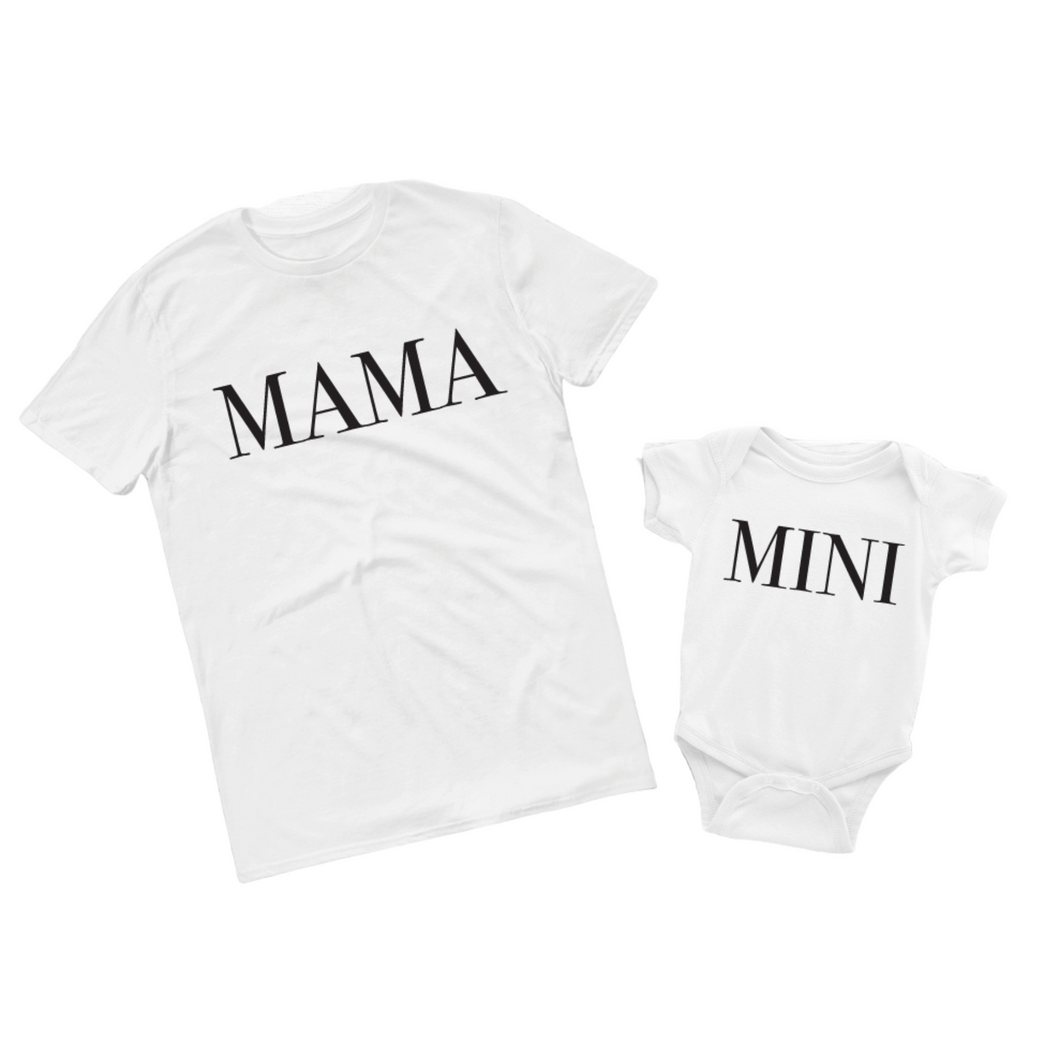 MAMA & MINI Set | Mom & Baby T-Shirt Set - Crystal Rose Design Co.