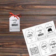Load image into Gallery viewer, Printable Christmas Gift Tags | Printable Instant Digital Download