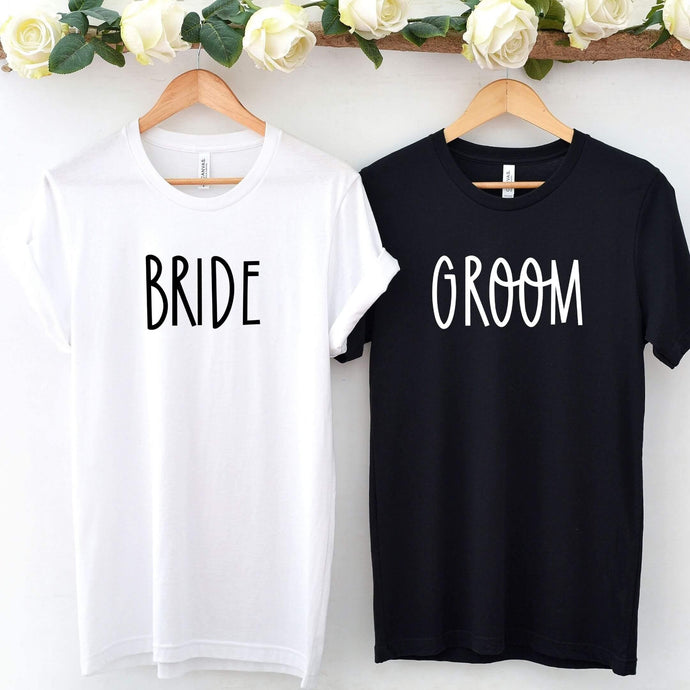 Bride and Groom T-Shirt Set