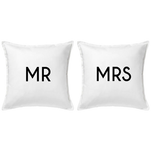 Mr and Mrs Pillow Set | Pillow Cover | Cushion Cover