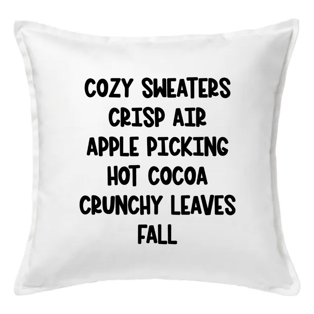 Cozy Sweaters Crisp Air Pillow | Pillow Cover | Cushion Cover