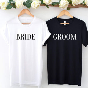 Modern Bride and Groom T-Shirt Set