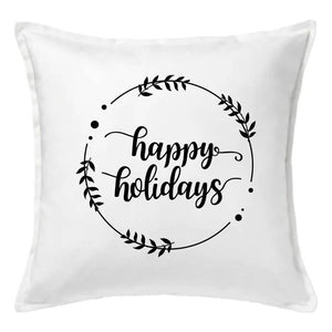 Happy Holidays Pillow | Pillow Cover | Cushion Cover