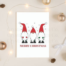 Load image into Gallery viewer, Merry Christmas Gnomes Poster | Printable Instant Digital Download Sign | Christmas