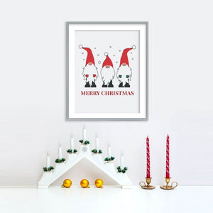 Merry Christmas Gnomes Poster | Printable Instant Digital Download Sign | Christmas