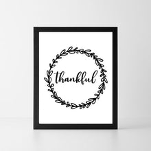 Load image into Gallery viewer, Thankful Wreath | Printable Instant Digital Download Sign | Fall