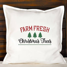Load image into Gallery viewer, Farm Fresh Christmas Trees Pillow | Pillow Cover | Cushion Cover