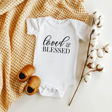 Load image into Gallery viewer, Loved and Blessed Onesie - Crystal Rose Design Co.