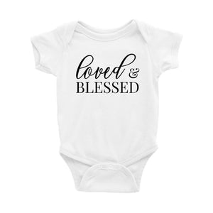 Loved and Blessed Onesie - Crystal Rose Design Co.