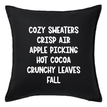 Load image into Gallery viewer, Cozy Sweaters Crisp Air Pillow | Pillow Cover | Cushion Cover