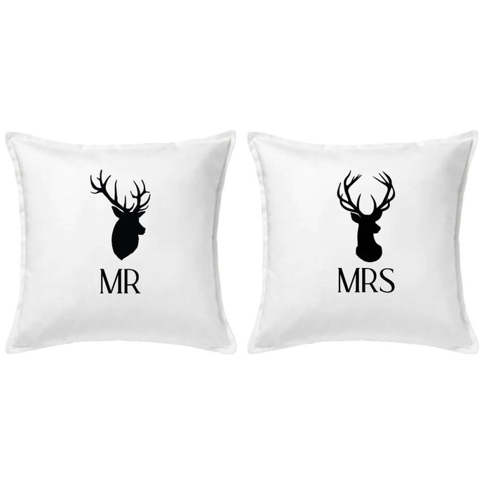 Mr and Mrs Reindeer Pillow | Pillow Cover | Cushion Cover