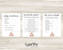 Load image into Gallery viewer, Giraffe Baby Shower Games | Baby Shower Games Bundle | Baby Shower Games | Printable Baby Shower Games