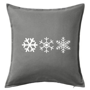 Three Snowflakes Pillow | Pillow Cover | Cushion Cover