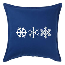 Load image into Gallery viewer, Three Snowflakes Pillow | Pillow Cover | Cushion Cover