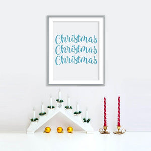 Christmas Pattern Poster | Printable Instant Digital Download Sign | Christmas