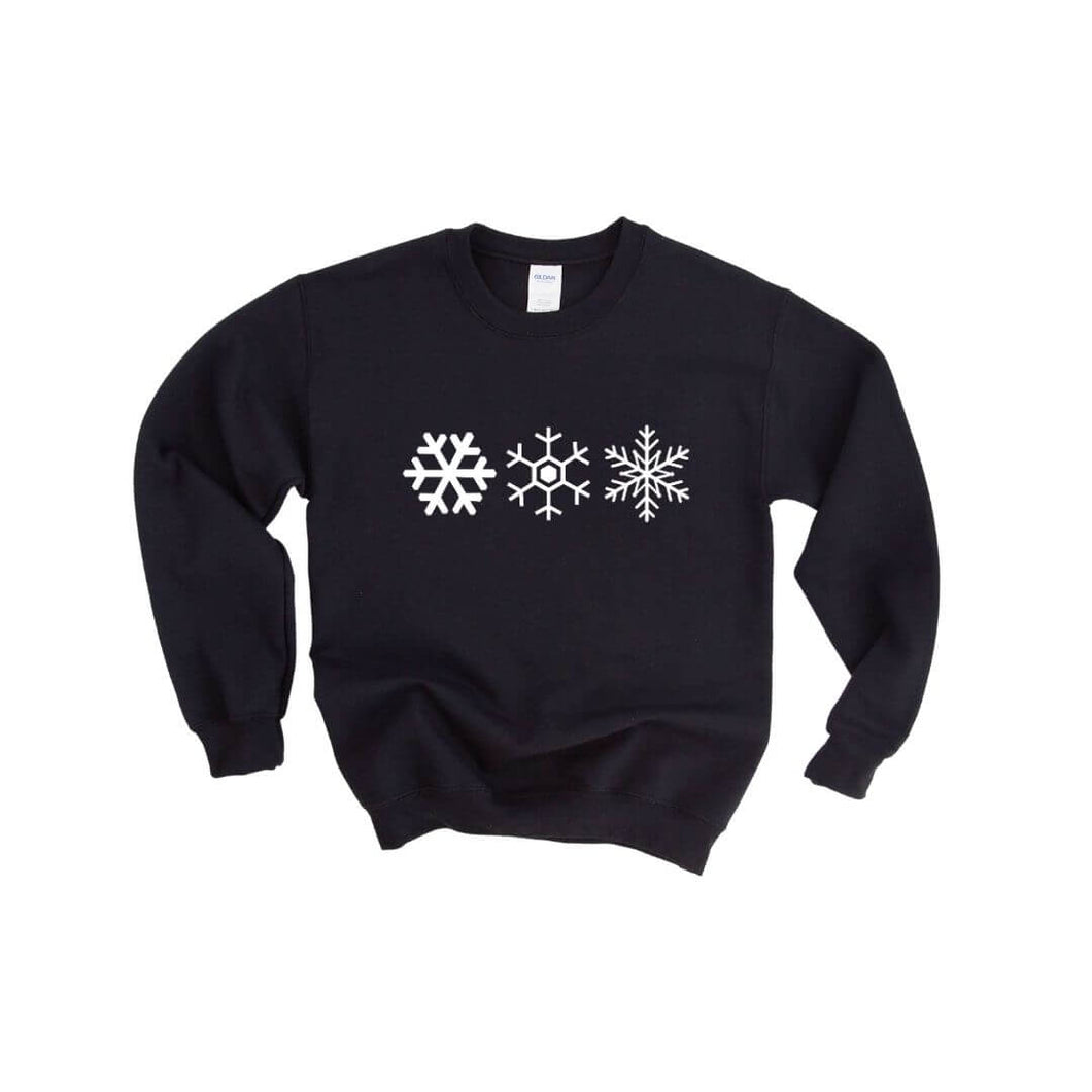 Three Snowflakes Crewneck Sweater