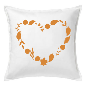 Fall Heart Pillow | Pillow Cover | Cushion Cover