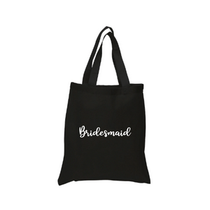 Bridesmaid Tote Canvas Bag - Crystal Rose Design Co.