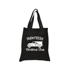 Farm Fresh Christmas Trees with Truck Tote Canvas Bag