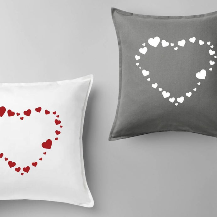 Heart Pattern Pillow | Pillow Cover | Cushion Cover - Crystal Rose Design Co.