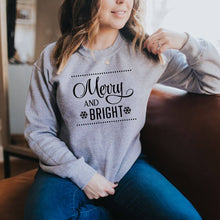 Load image into Gallery viewer, Merry and Bright Crewneck Sweater