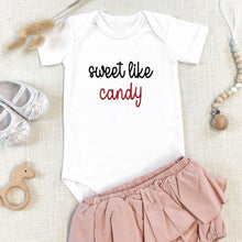 Load image into Gallery viewer, Sweet Like Candy Valentine Onesie