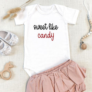 Sweet Like Candy Valentine Onesie
