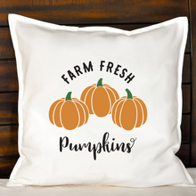 Load image into Gallery viewer, Farm Fresh Pumpkins Pillow | Pillow Cover | Cushion Cover