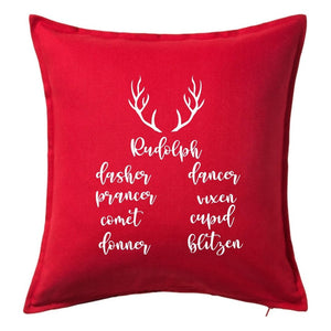 Rudolph and Reindeers Pillow | Pillow Cover | Cushion Cover