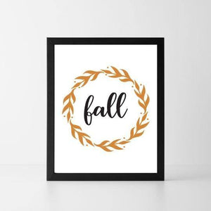 Fall Wreath | Printable Instant Digital Download Sign | Fall
