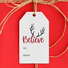 Load image into Gallery viewer, Red Printable Christmas Gift Tags | Printable Instant Digital Download