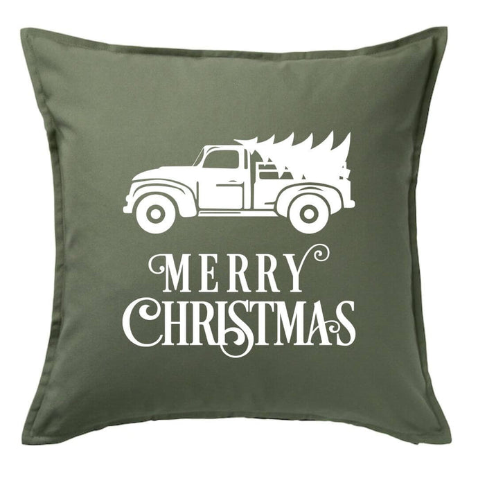 Merry Christmas Truck Pillow | Pillow Cover | Cushion Cover
