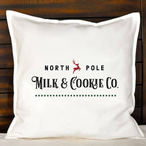 North Pole Milk & Cookie Co. Pillow | Pillow Cover | Cushion Cover