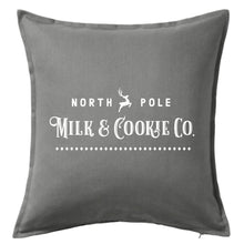 Load image into Gallery viewer, North Pole Milk & Cookie Co. Pillow | Pillow Cover | Cushion Cover