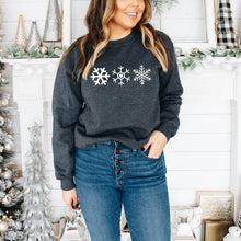 Load image into Gallery viewer, Three Snowflakes Crewneck Sweater