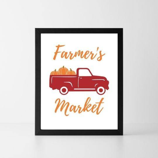 Farmer's Market | Printable Instant Digital Download Sign | Fall