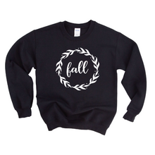 Load image into Gallery viewer, Fall Wreath Crewneck Sweater