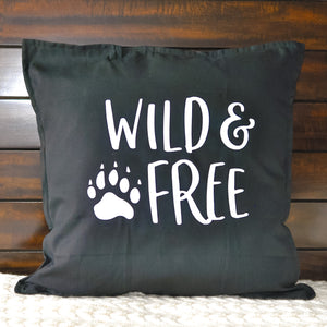 Wild & Free Pillow | Pillow Cover | Cushion Cover - Crystal Rose Design Co.