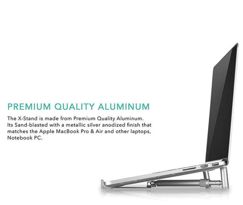 Image of Aluminium X-Stand Folding Portable Laptop Stand 12-17 inches