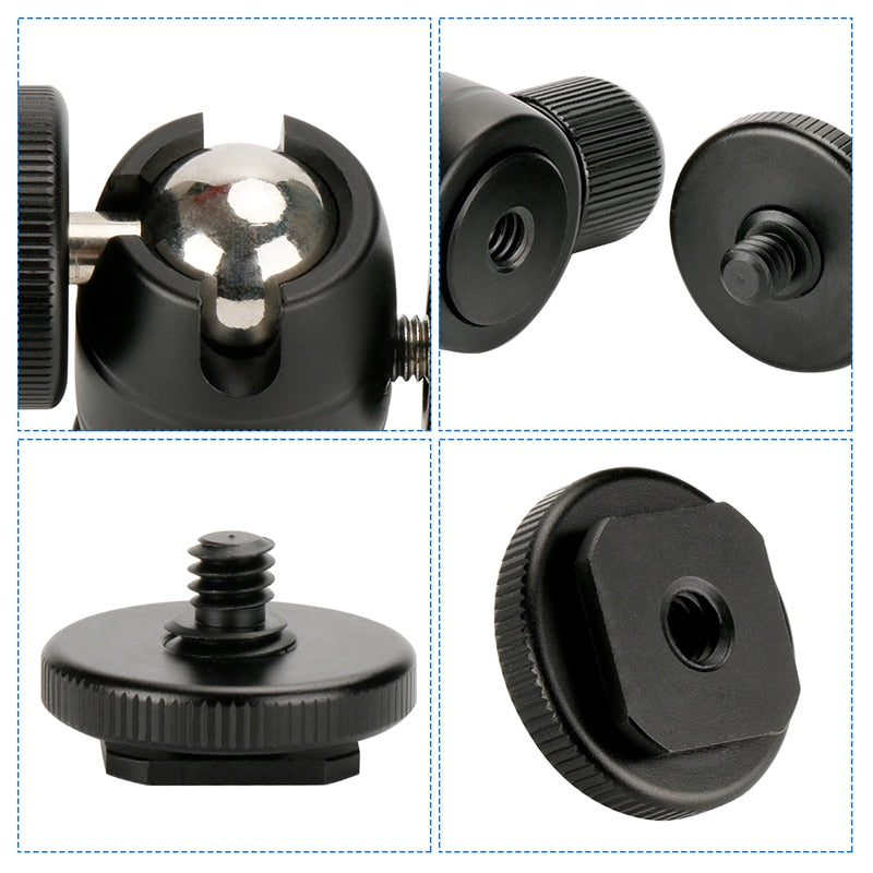 Ulanzi U-30 Aluminum Super Mini Ball Head w 1/4'' Screw and Cold Shoe Adapter
