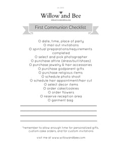 First Communion Checklist-Free