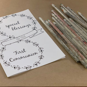 First Communion Printable Card